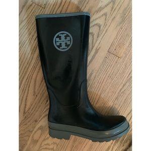 Tory Burch Rubber Rain Boots - Size 8